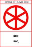 Symbol av den forntida slavicguden för STÅNG vektor illustrationer