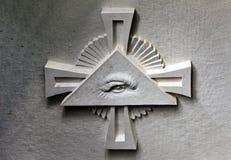 Symbol av den frimurar- templet Fotografering för Bildbyråer
