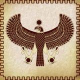 Symbol av den Horus falken royaltyfri illustrationer