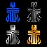 Symbol av den presbyterianska religionen royaltyfri illustrationer