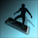 Symbol av den snabba mobila kommunikationen mellan folk Royaltyfria Foton