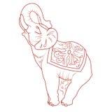 Symbol av den thai elefanten Arkivfoton