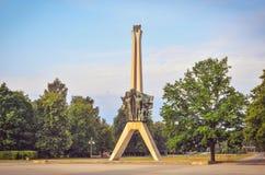 Symbol av den Tychy staden i Polen arkivbild