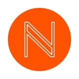 Symbol av digital crypto valuta Namecoin, rund symbol för monokrom Royaltyfri Fotografi