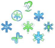 Symbol av en gräsplanblått för medicinsk institution Fotografering för Bildbyråer