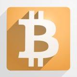 Symbol av finansiell valuta Bitcoin Arkivfoto