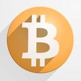 Symbol av finansiell valuta Bitcoin Arkivfoton