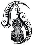 Symbol av fiolen Konsert av levande musik också vektor för coreldrawillustration vektor illustrationer