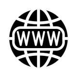 Symbol av internet och jordklotet stock illustrationer