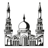 Symbol av islam. Kontur av moskén. Ramadan. stock illustrationer