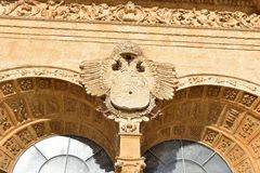 Symbol av kronan av Spanien Arkivbilder