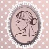 Symbol av kvinnan Arkivbild