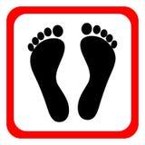 Symbol av mänskliga fotspår på en vit bakgrund också vektor för coreldrawillustration vektor illustrationer
