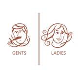 symbol av mannen, kvinna, pojke, flicka Royaltyfria Bilder