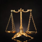 Symbol av rättvisa, lagvåg Fotografering för Bildbyråer