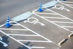 Symbol av rörelsehindrad parkering Arkivbilder