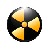 Symbol av radioaktiv förorening Royaltyfri Foto