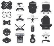 Symbol av Retro emblem för vektor, logoer, etiketter vektor illustrationer