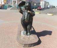 Symbol av staden Bobruisk - BÄVER Arkivfoton