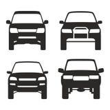 Symbol av suvlastbilen 4x4 av vägvektor vektor illustrationer