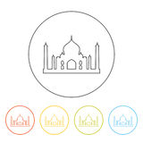 Symbol av Taj Mahal royaltyfri illustrationer