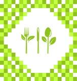Symbol av vegetarisk mat Royaltyfri Bild