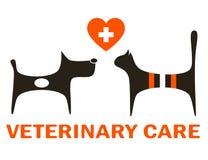 Symbol av veterinär- omsorg vektor illustrationer