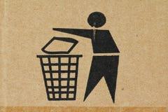 Symbol - avfall Arkivfoton