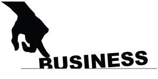 Symbol of bad business Stock Image