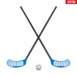 Symbol of ball and sticks for floorball Royalty Free Stock Photos