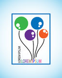 Symbol of balloon , this represents the concept of creativity with colors, this is used logo for children helping organizations Stock Image