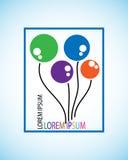 Symbol balon, to reprezentuje pojęcie twórczość z kolorami, to jest używać logem dla dzieci pomaga organizacjom Obraz Stock