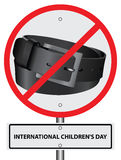 Symbol ban punishment belt Stock Photography