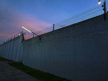 Symbol of  Barbed wire wall is symbol of freedom Stock Photo