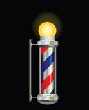 Symbol for a barber night stock illustration