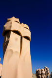 Symbol of Barcelona. Chimneys by Gaudi Stock Photography