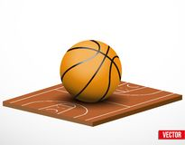 Symbol of a basketball game and field. Royalty Free Stock Images