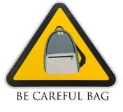 Symbol be careful bag. On red background,JJ park at bangkok Stock Images