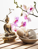 Symbol of beauty and relaxation with Buddha and or Stock Photos