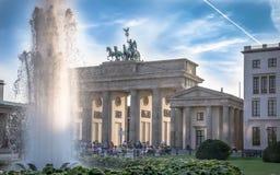 The symbol of Berlin - the Brandenburg Gate stock photography