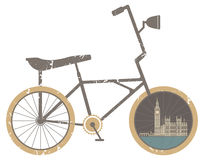 Symbol Bicycle Modern , Travel and Healthy Lifestyle, Royalty Free Stock Images