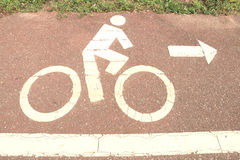 Symbol bicycle path out city Stock Images