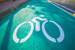 Symbol for bicycle paths. Road Royalty Free Stock Image