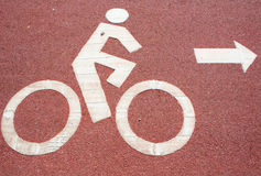 Symbol bicycle Royalty Free Stock Photos