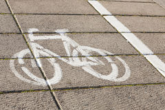 Symbol of bike. Royalty Free Stock Image
