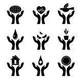 Symbol-black-hands Stock Images