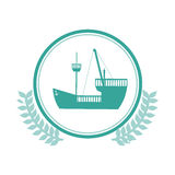 symbol blue ship icon Stock Photography