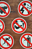Symbol board in public place Royalty Free Stock Images