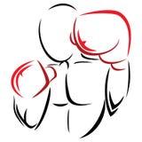 Symbol boxer Royalty Free Stock Image