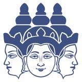 Symbol of brahma. Hindu god (deva) of creation and one of the Trimūrti Royalty Free Stock Photos
